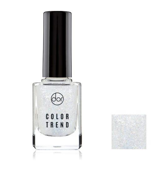 lakier color trend biały brokat