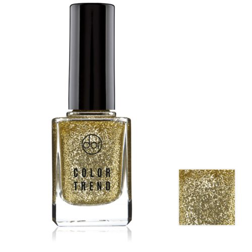 lakier color trend złoty brokaty