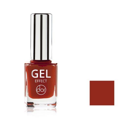 lakier gel effect ciemnoczerwony z brązem